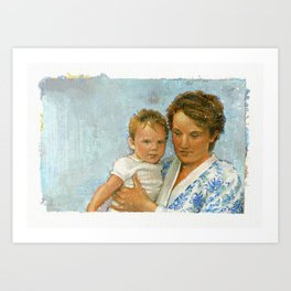 mother and child 2 Art Print