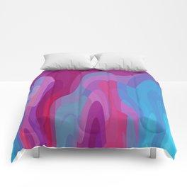 Bubblegum waves Comforters