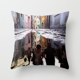 A Reflection of City Life by GEN Z Throw Pillow
