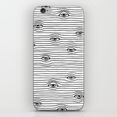 PEEPING TOM [BLK & WHT] iPhone Skin