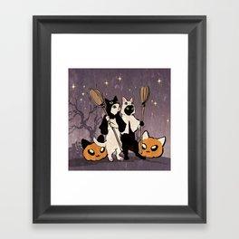 halloween cats Framed Art Print