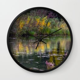 Channel in the Fall Wall Clock