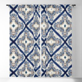 A Pattern of Blue Birds Blackout Curtain