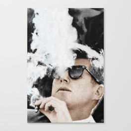 Cool President John F. Kennedy Canvas Print