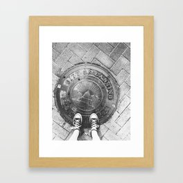 LANSING Framed Art Print