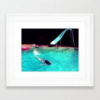 swim Framed Art Prints featuring Swim by Katie Troisi