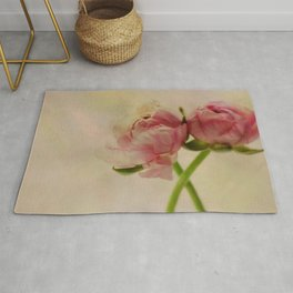 Falling in Love with rose flowers Rug