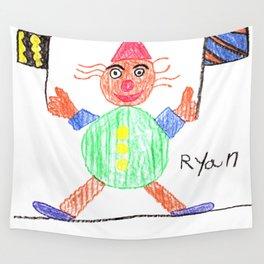 Race Clown Wall Tapestry