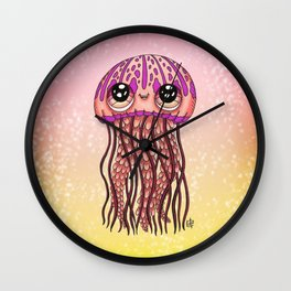 Happy Jellyfish  Wall Clock