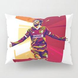 colorful illutration of mohamed salah Pillow Sham