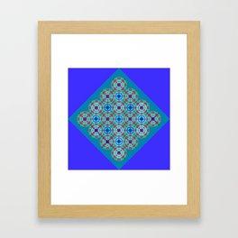Prelude to Metatron (Indigo) Framed Art Print