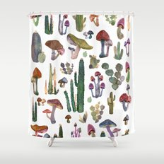 Cactus and Mushrooms NEW!!! Shower Curtain