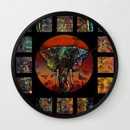 Elephant 1 Wall Clock