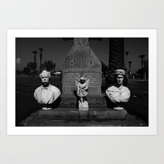Cementary in Los Angeles Art Print