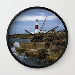 Portland Bill Lighthouse Dorset England Wall Clock