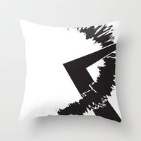 totes Throw Pillows featuring Totes by Laura Lee's Stuff