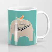 portlandia Mugs featuring Made in Brooklandia by Elephant Love