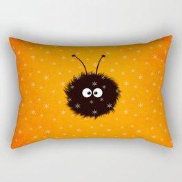 Orange Cute Dazzled Bug Winter Rectangular Pillow