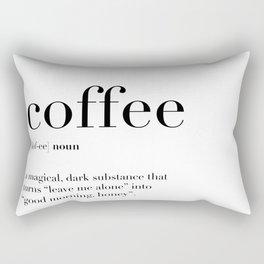 Coffee Definition Rectangular Pillow