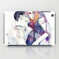 bag iPad Cases featuring wakeful by agnes-cecile