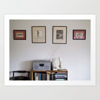 radio Art Prints featuring Radio by Liz Morrison Smith