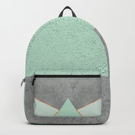 MINT COPPER GRAY GEOMETRIC PATTERN Backpack