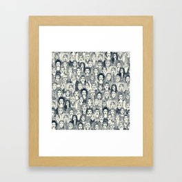 WOMEN OF THE WORLD INDIGO Framed Art Print