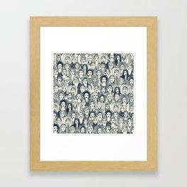 WOMEN OF THE WORLD INDIGO Framed Art Print