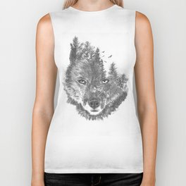 Wolf - The Wild and the Wilderness Biker Tank