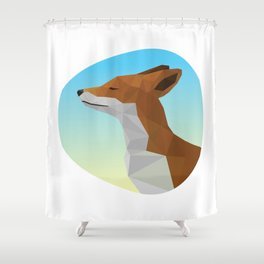 Low-Poly fox Shower Curtain