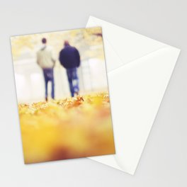 Walking in the Leaves Stationery Cards