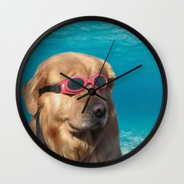 Swimmer Dog Wall Clock