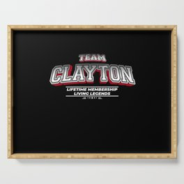 Team CLAYTON Family Surname Last Name Member Serving Tray