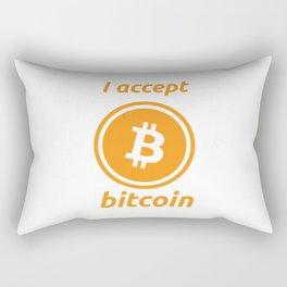 I accept bitcoin Rectangular Pillow