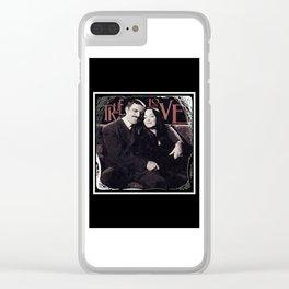 True Love- Gomez & Morticia Addams Clear iPhone Case