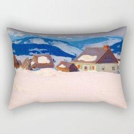 Clarence Gagnon - Laurentian Homestead - Ferme du rang St. Antoine, Baie St. Paul Rectangular Pillow