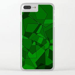 Pentagons Green Clear iPhone Case