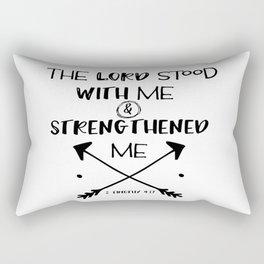 Strength Bible Verse Typography Rectangular Pillow
