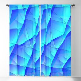 Abstract celestial pattern of blue and luminous plates of triangles and irregularly shaped lines. Blackout Curtain