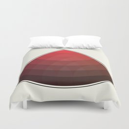 Le Rouge-Orangé (ses diverses nuances combinées avec le noir) Remake (Interpretation), no text Duvet Cover