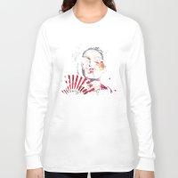 subaru Long Sleeve T-shirts featuring Japanese Creepy Geisha by viva la revolucion
