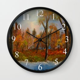 Autumnal Augur Wall Clock
