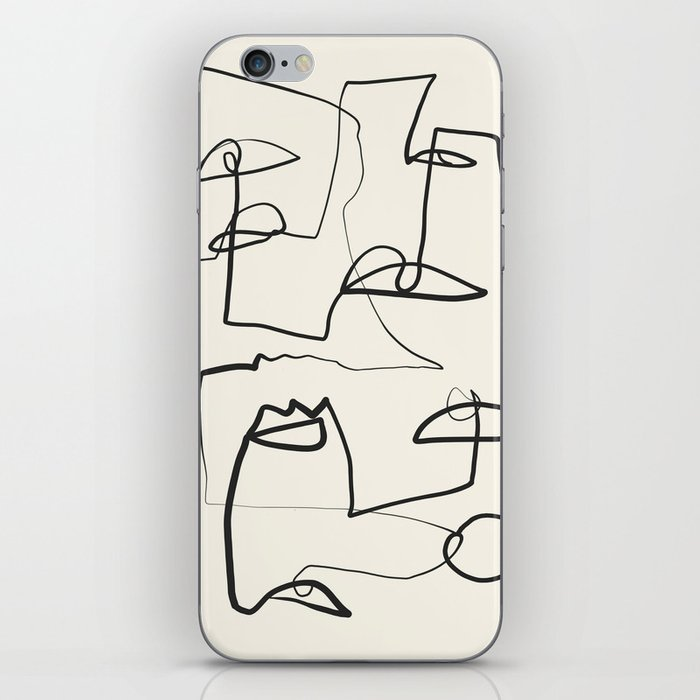 Abstract line art 12 iPhone Skin