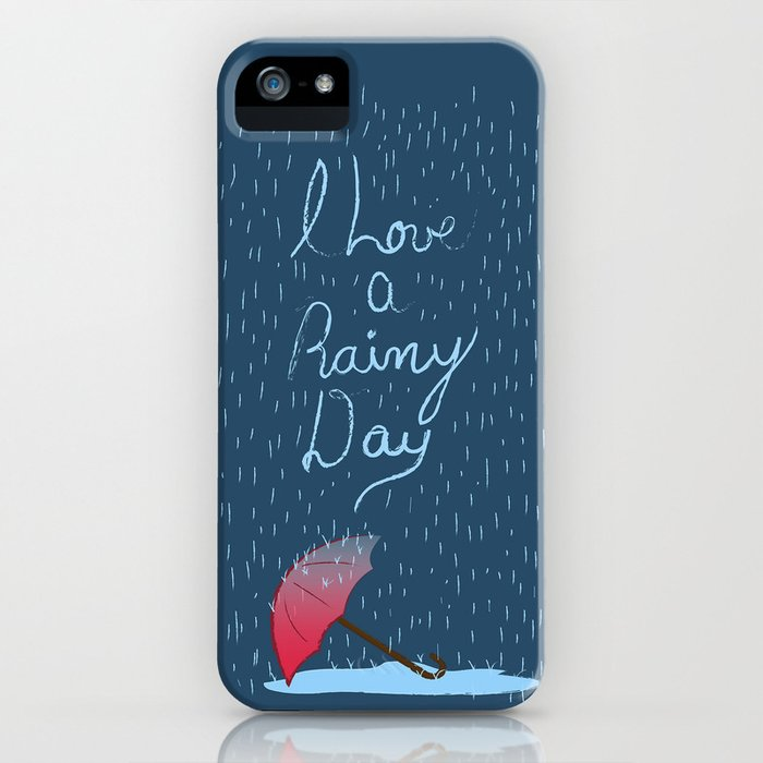 Love Rainy Days iPhone Case