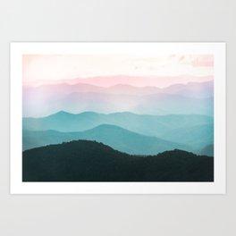 Smoky Mountain National Park Sunset Layers III - Nature Photography Art Print