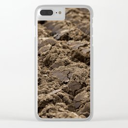 plowed land, close-up Clear iPhone Case
