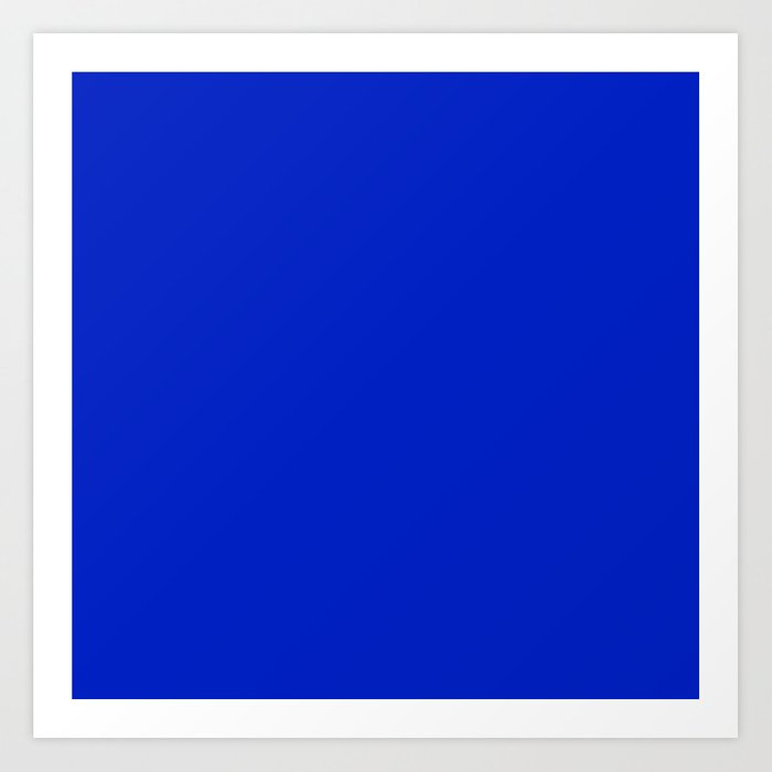 Solid Deep Cobalt Blue Color Kunstdrucke
