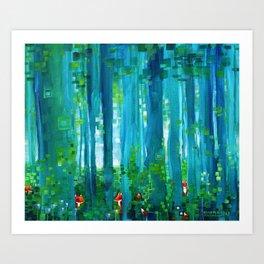 Fox-Forest Art Print