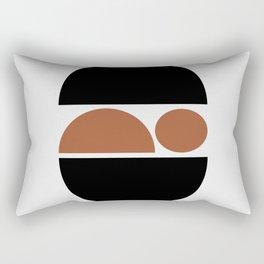 Sleeping Baby - Zen Minimalist Design - Black & Tan Rectangular Pillow