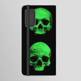 Skull quartet green Android Wallet Case